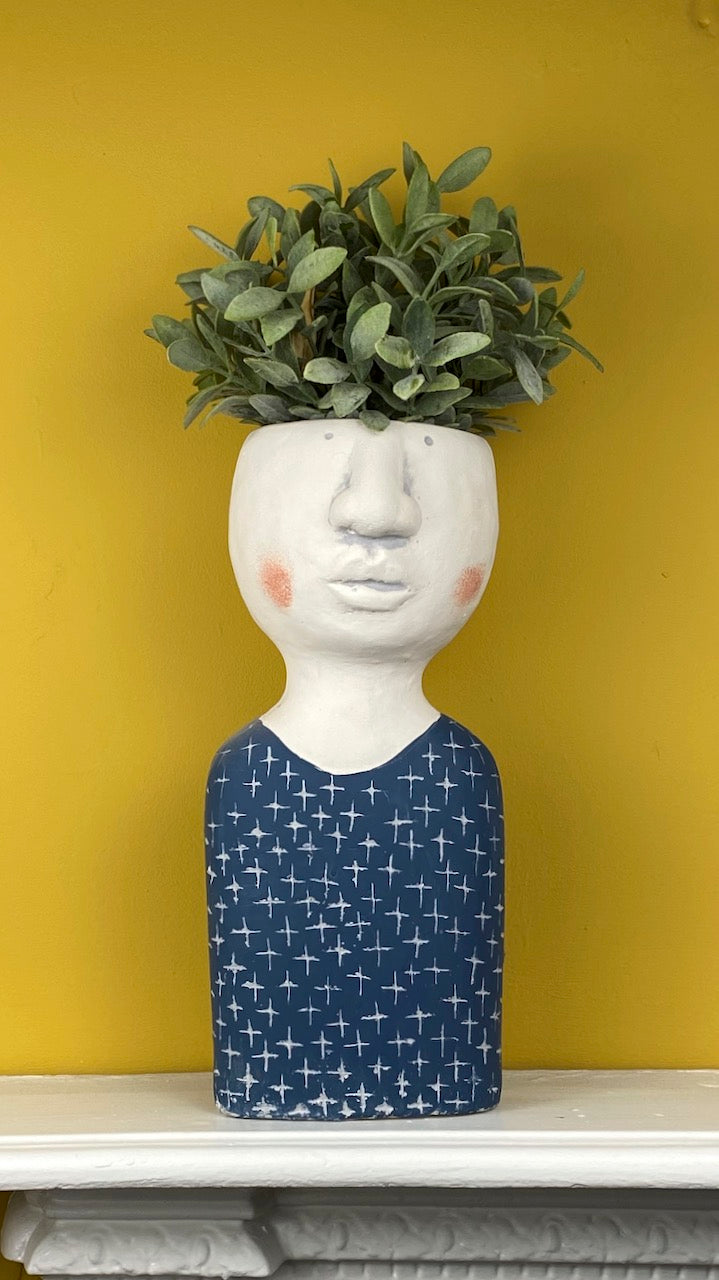 Man Sweater Bust Planter