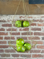 Hanging Brass Round Baskets