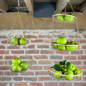 Hanging Brass Baskets