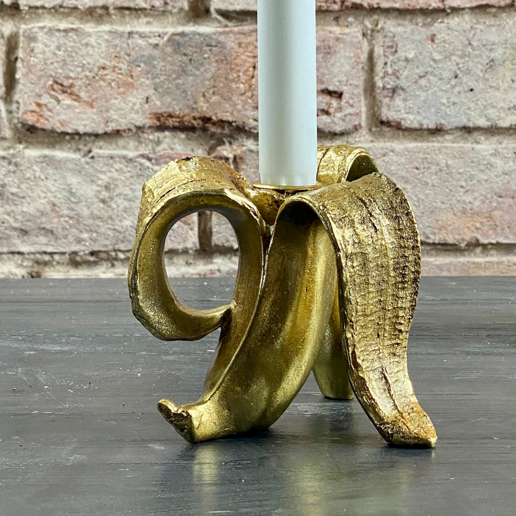 Glam Banana Candle Holder