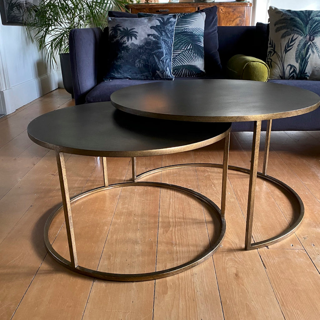 Round Metal Coffee Table Set