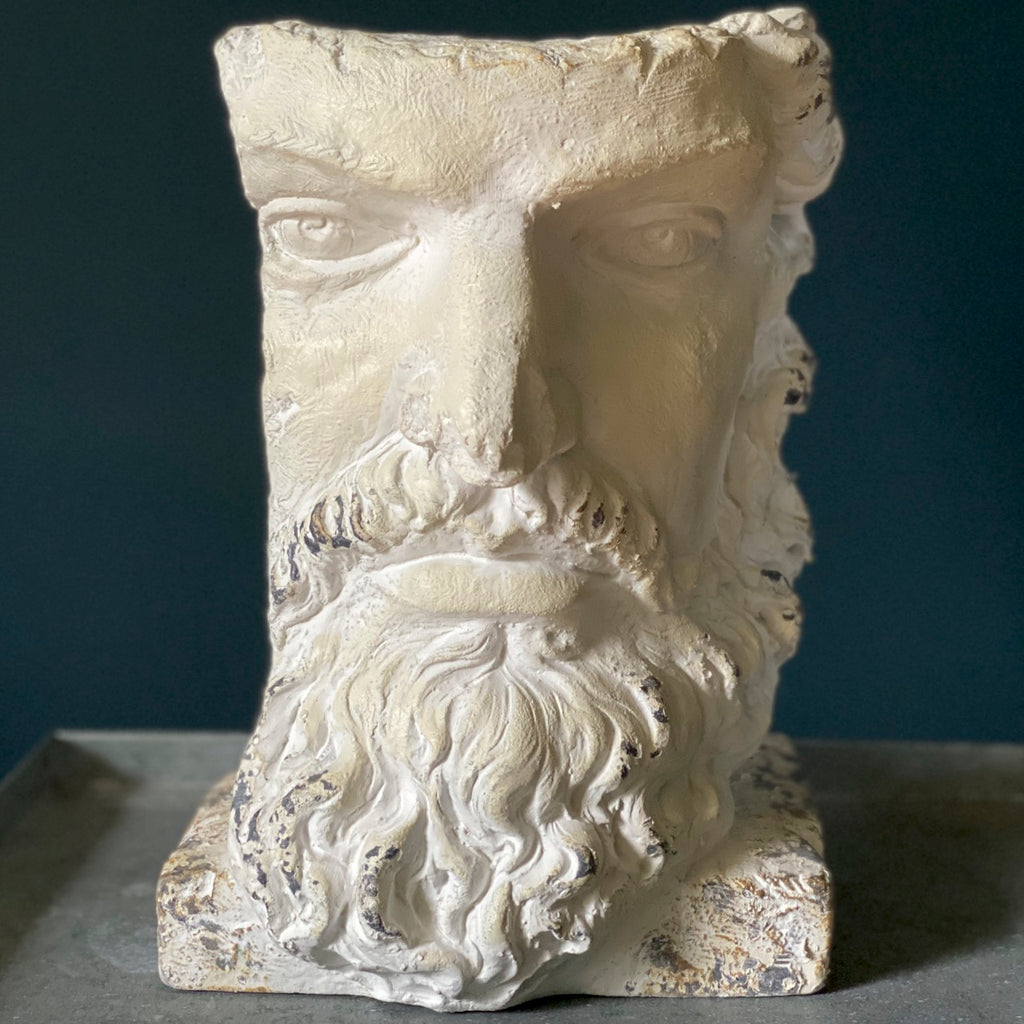 Stone Effect Greek Head Planter
