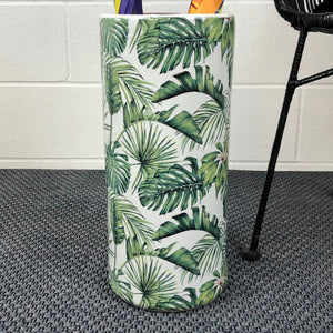 Ceramic Palm Tree Umbrella Stand