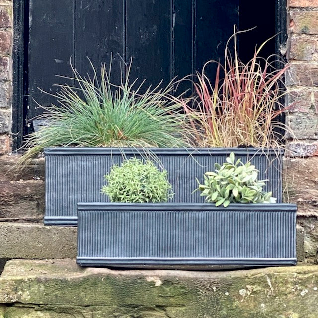 Trough Ridged Planters Set