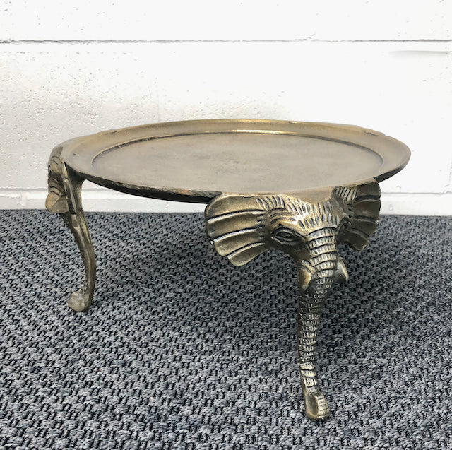 Antique Brass Elephant Stand