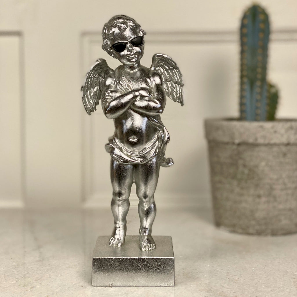 Cool Silver Cupid with Sunglasses