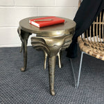 Elephant Trunk Side Table in Antique Brass