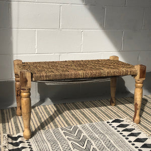 Seagrass Rustic Bench