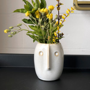 Petite Flower Pot With Face