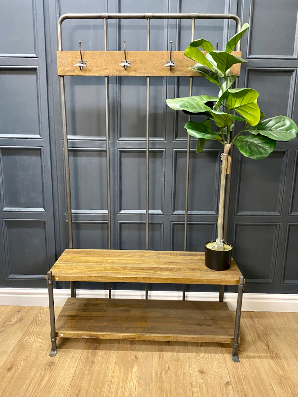 Hallway Coat Stand with Bench