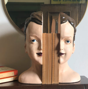 Doll Head Bookends