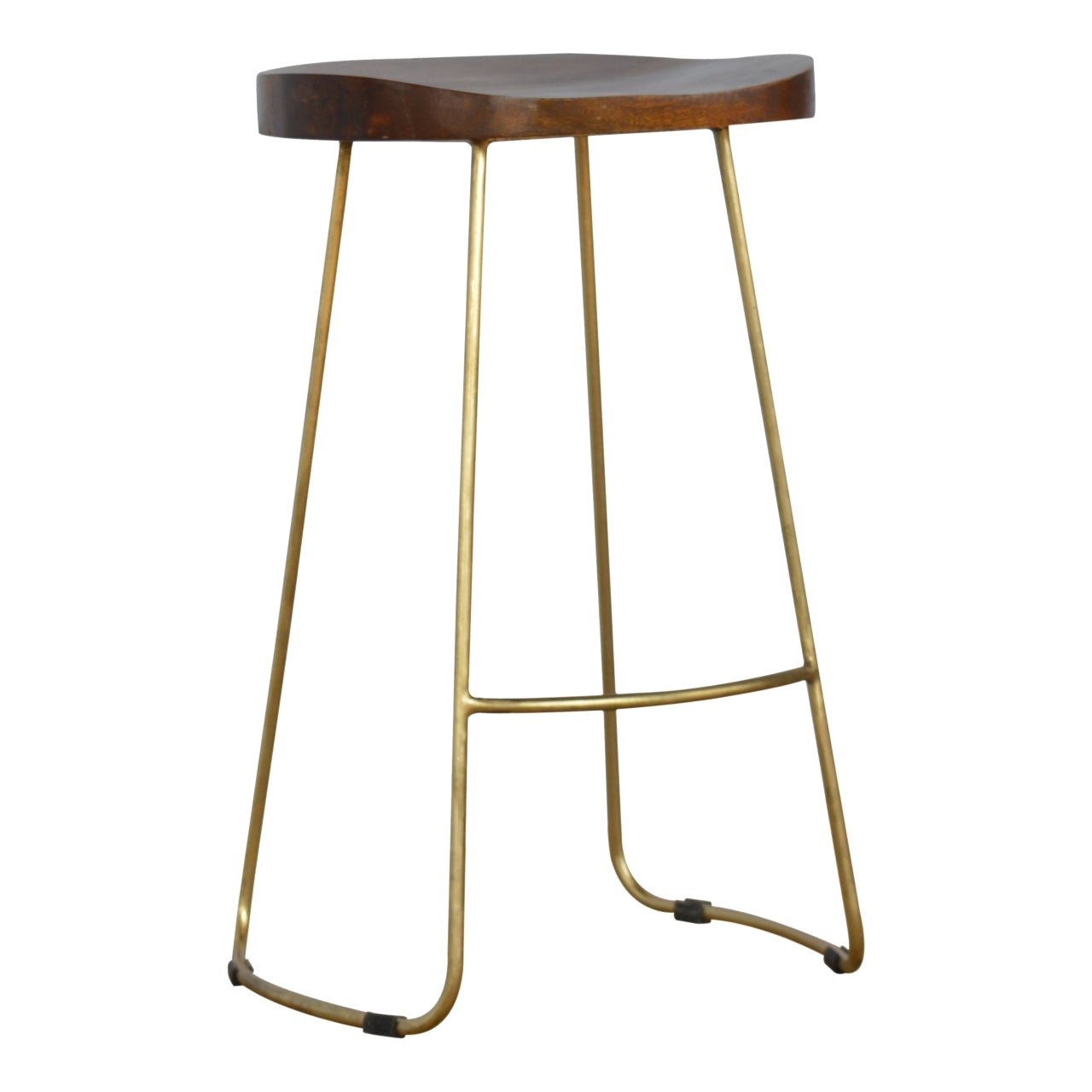Bar Stool with Gold Base