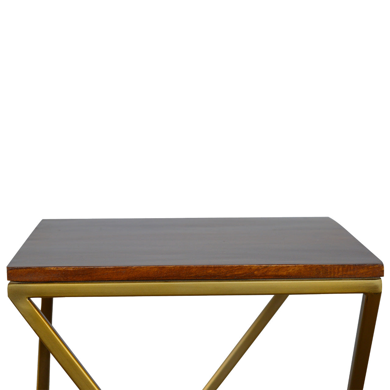 Nesting Tables with Gold Base