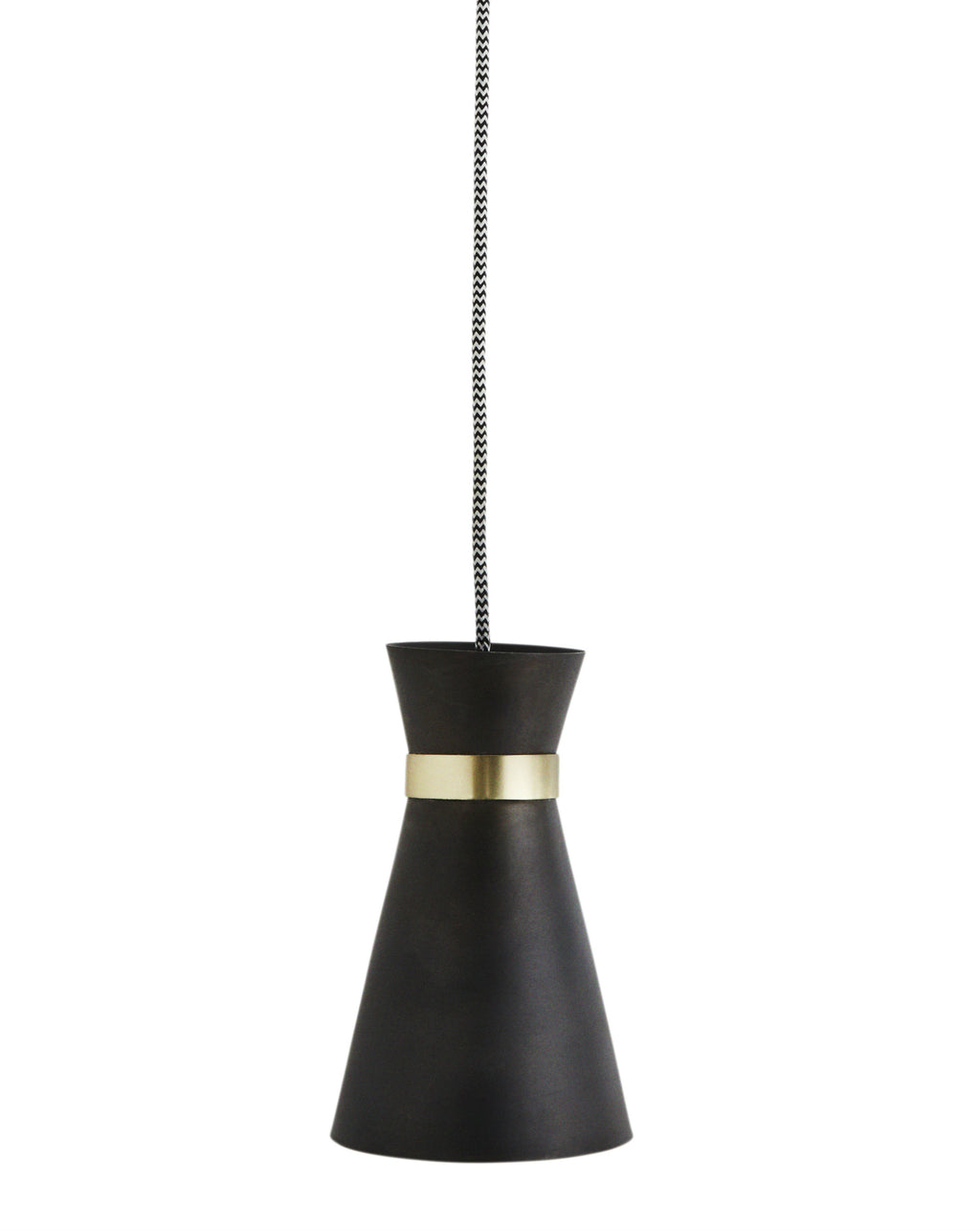 Black and Brass Pendant Light