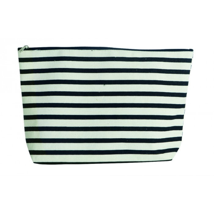 Striped Toiletries Bag