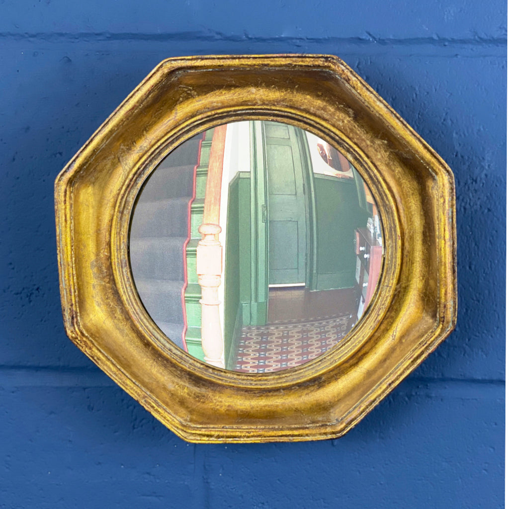 Gold Framed Convex Mirror