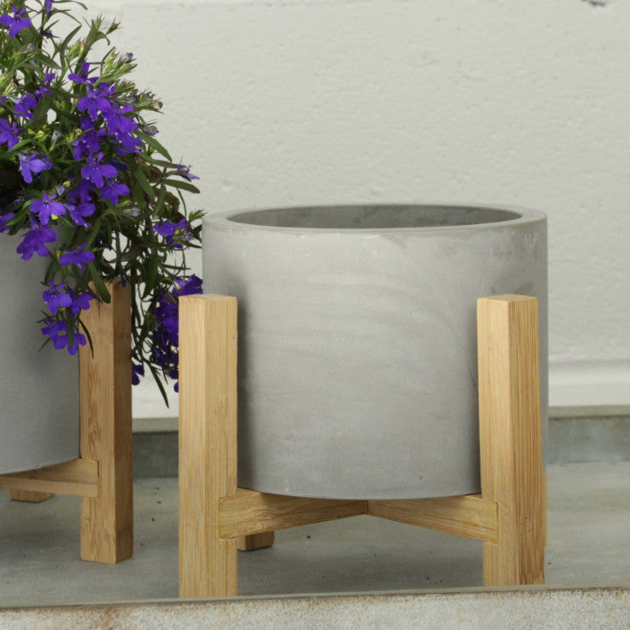 Concrete Plant Pot on Stand