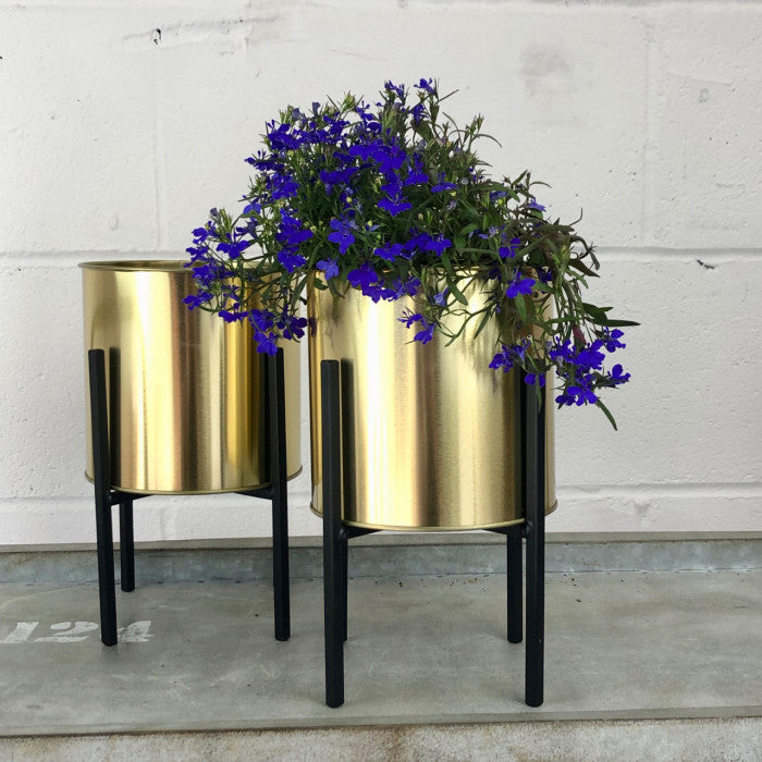 Gold Plant Pot on Stand