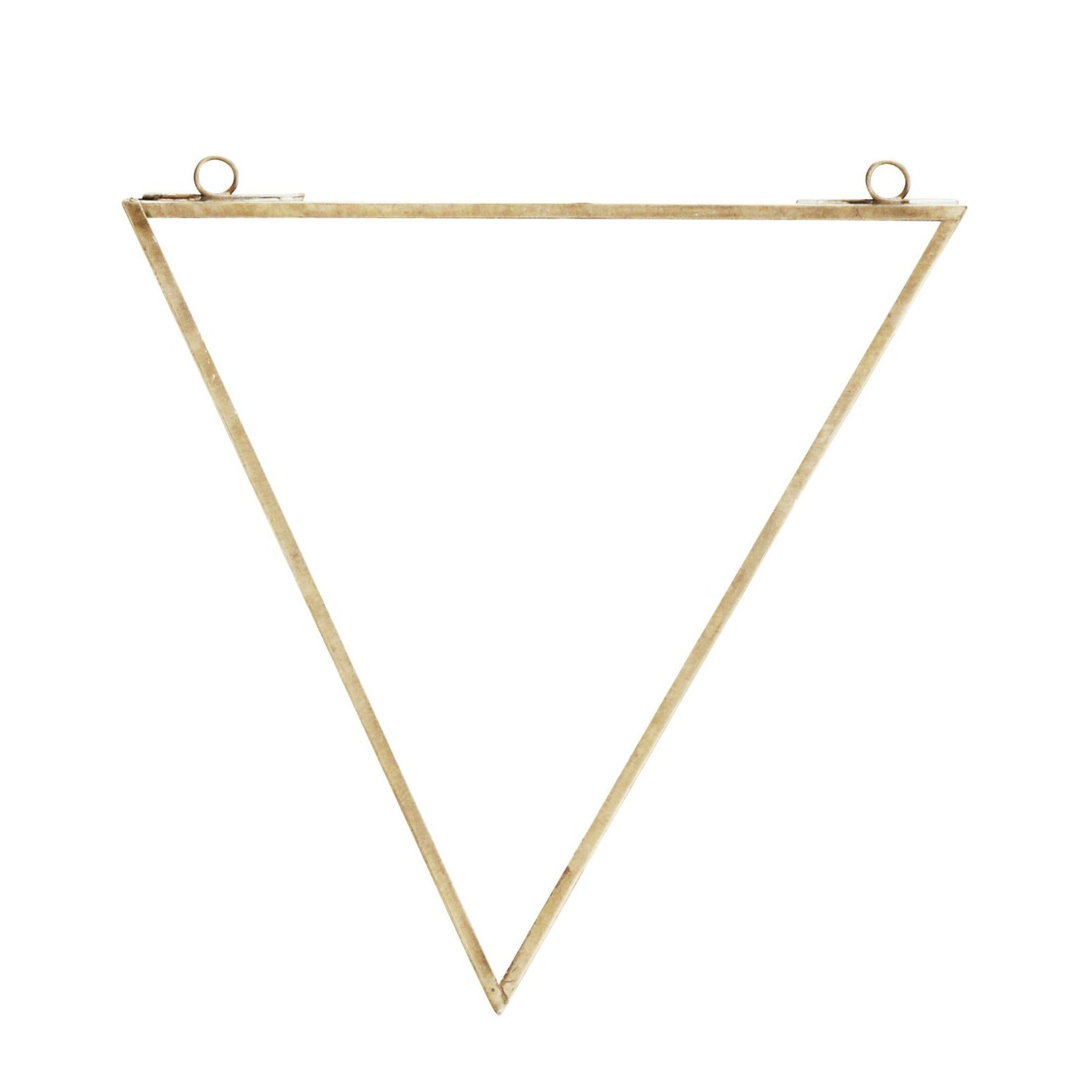 Antique Brass Triangle Mirror
