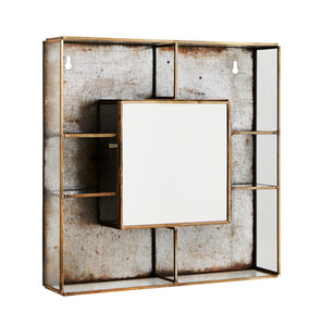 Brass Wall Display Box with Mirror