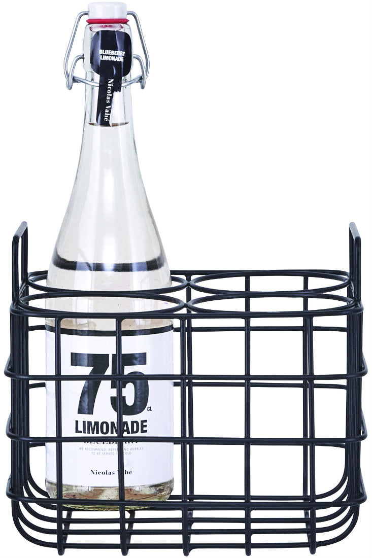 Black Bottle Holder Crate