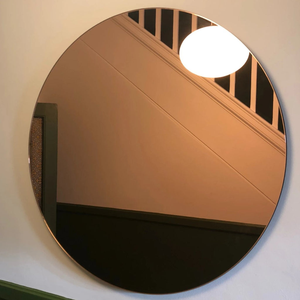 Large Rose Gold Round Wall Mirror