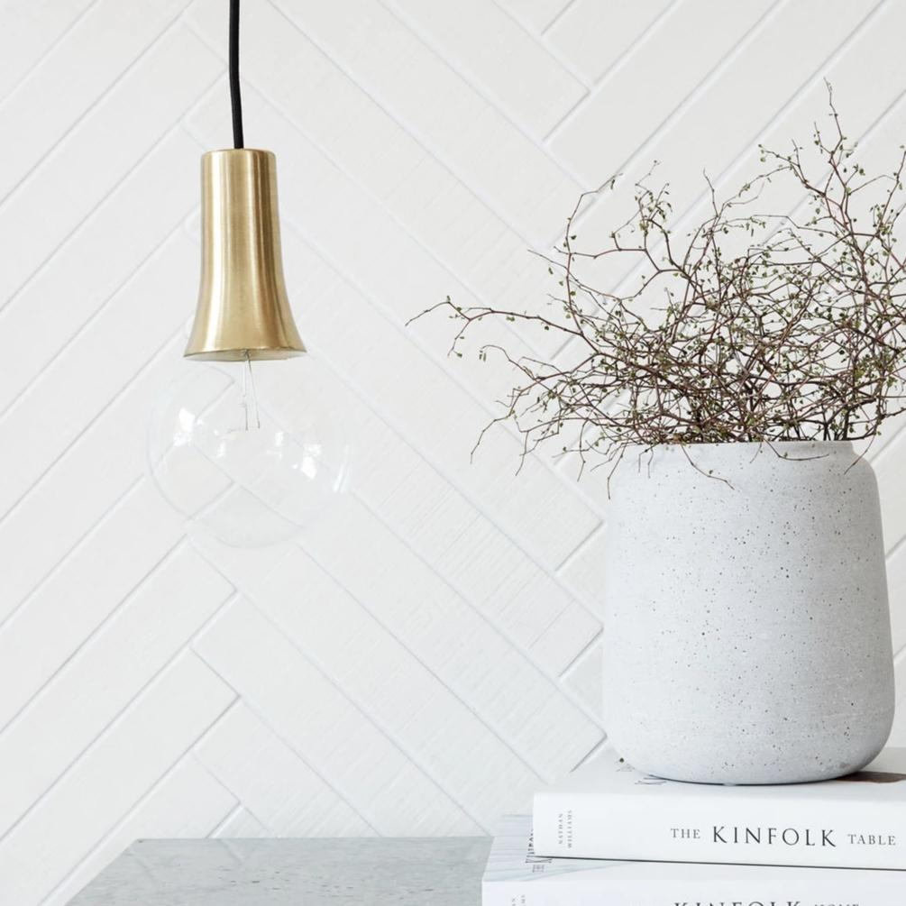 Brass Funnel Light Fitting Cover by House Doctor