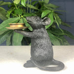 Black Mouse Candle Holder Set