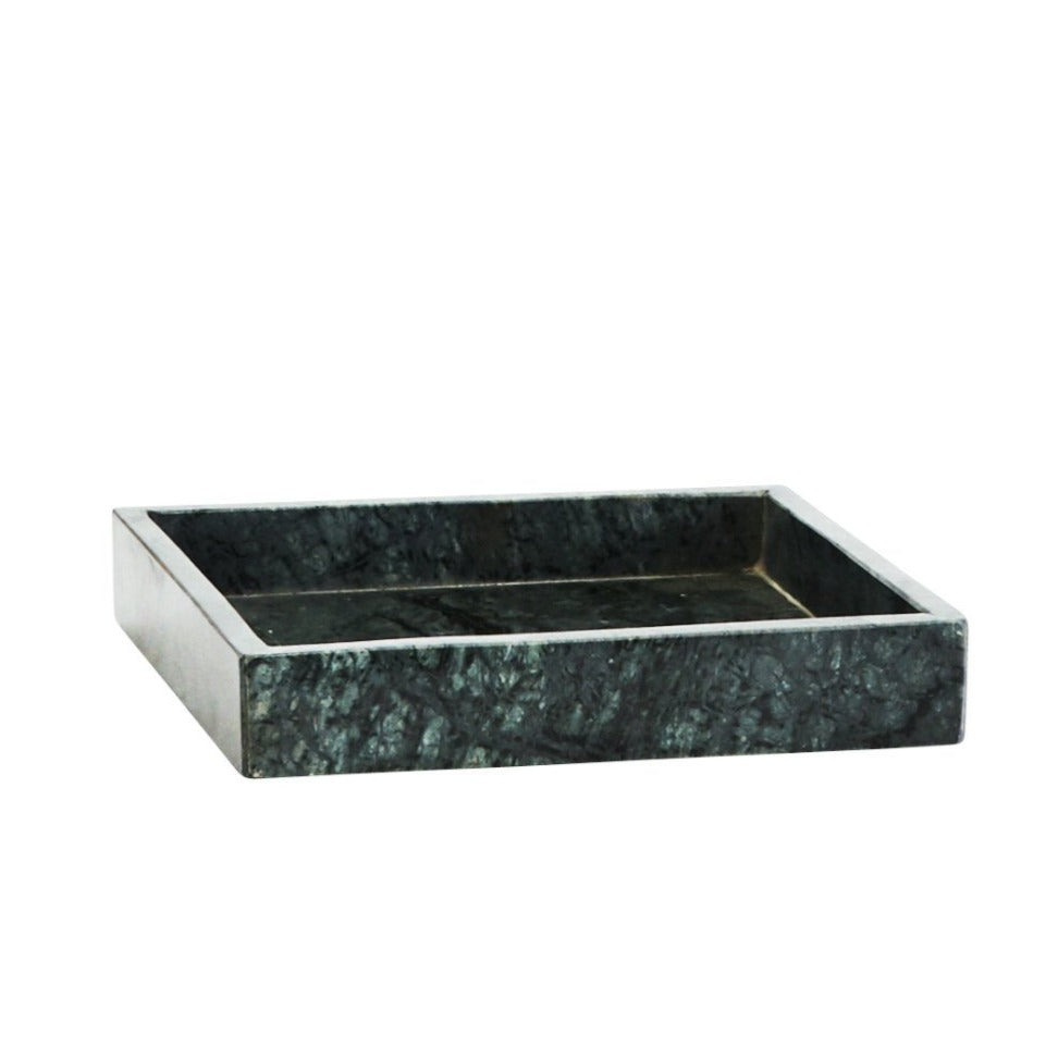 Green Marble Square Tray
