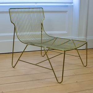 Antique Brass Lounge Chair