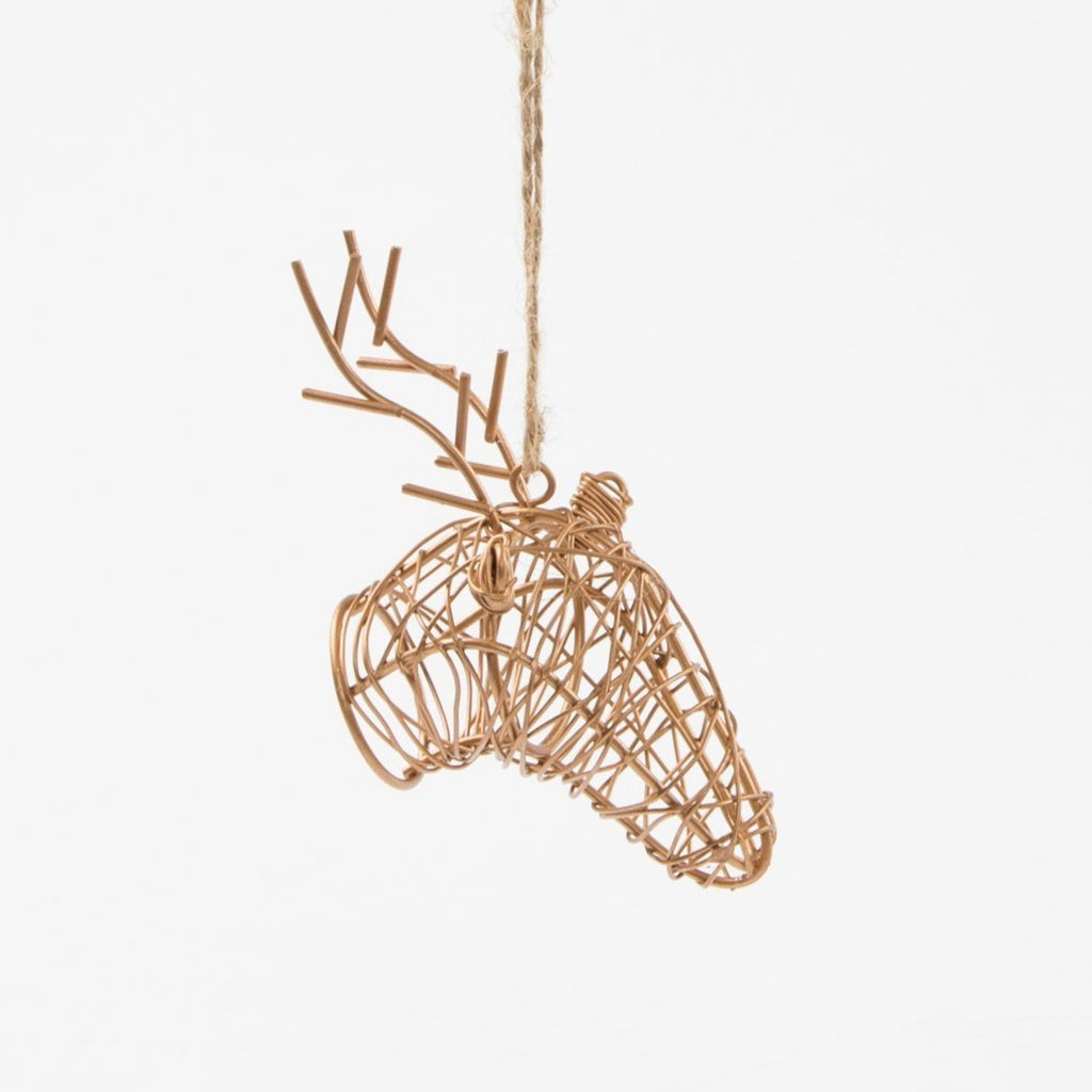 Copper Wire Stag Decoration