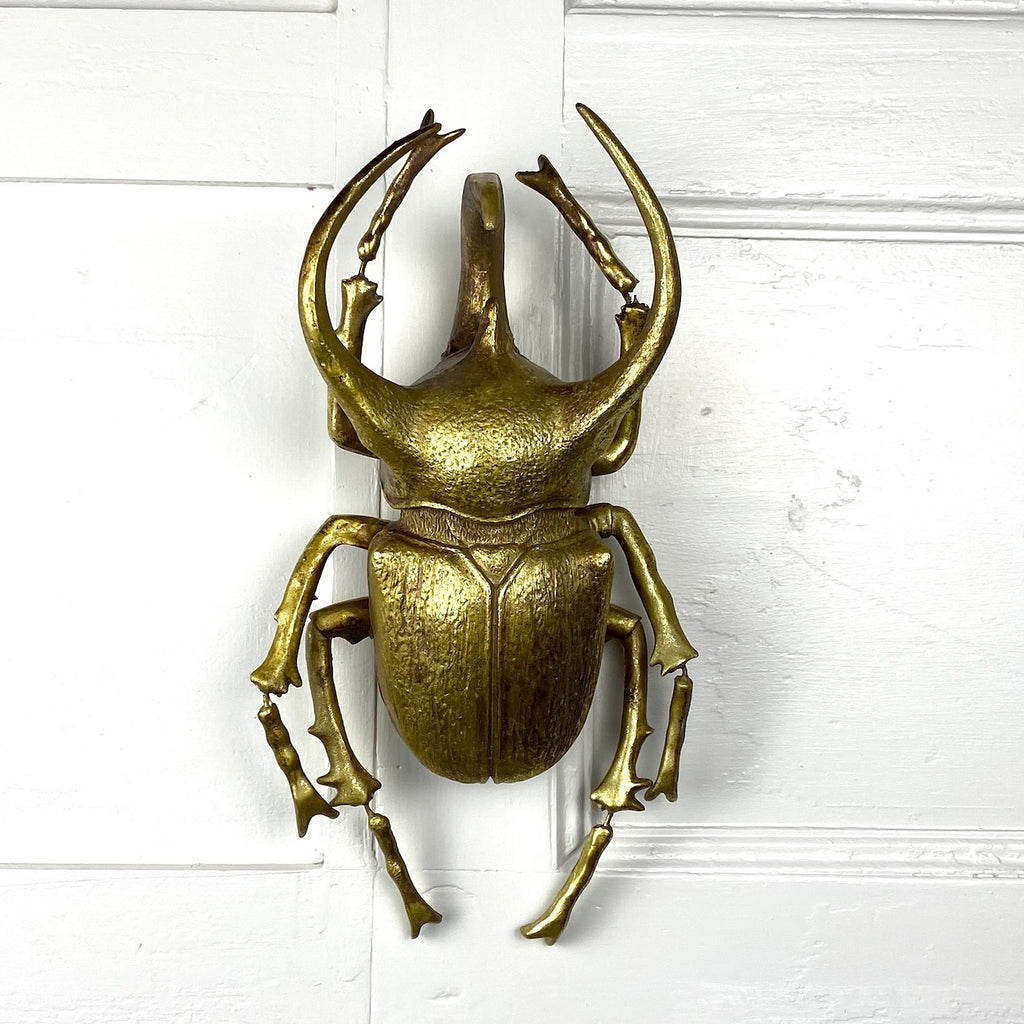 Gold Rhino Beetle Wall Decor XL