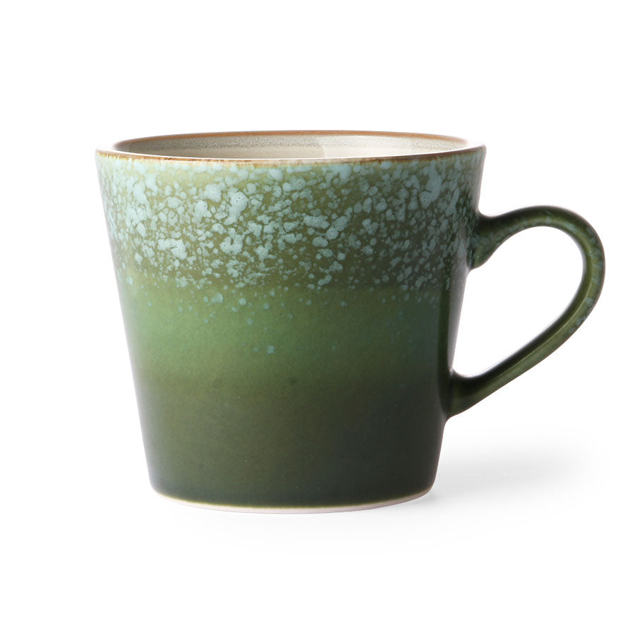 Ceramic 70s Mug with Grass Pattern