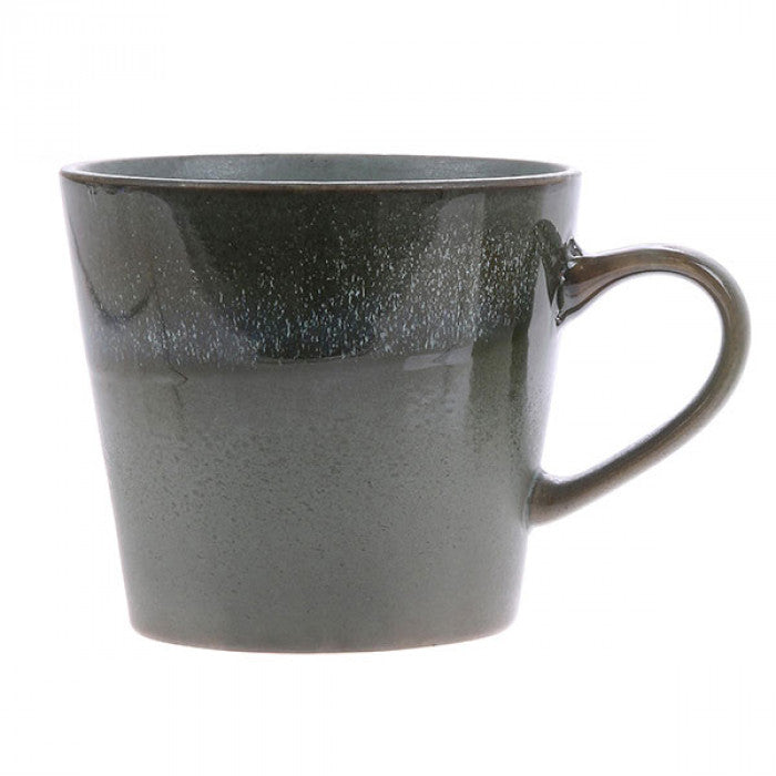 Ceramic 70s Mug with Moss Pattern