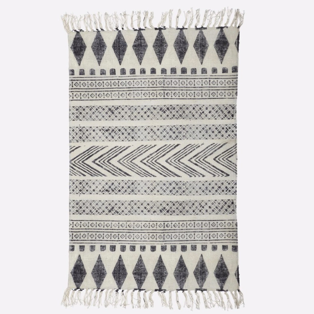 Block Patterned Rug