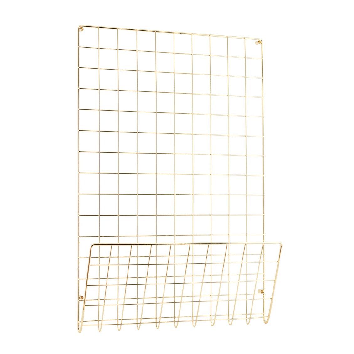 Gold Grid Noticeboard