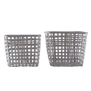 Grey Bamboo Storage Baskets