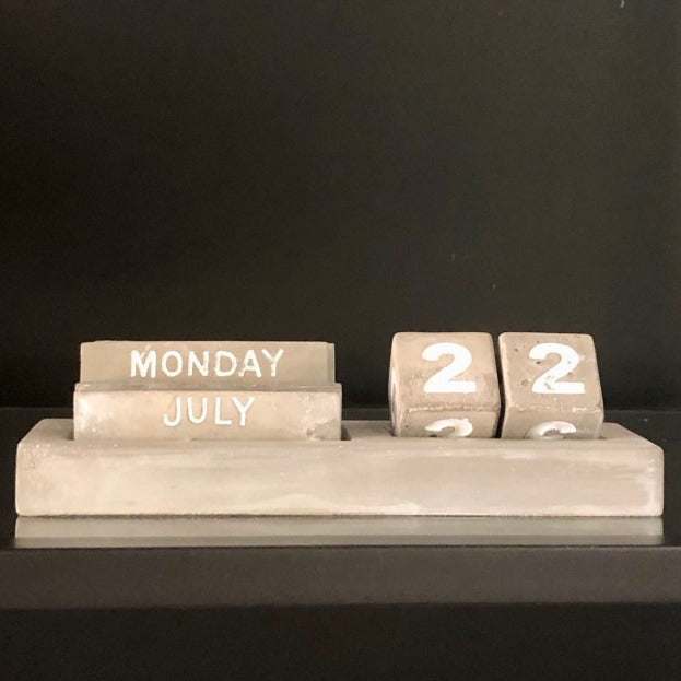 Eternity Concrete Calendar