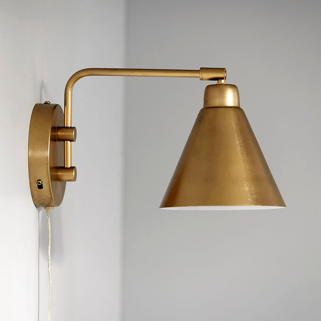 Brass Game Wall Light
