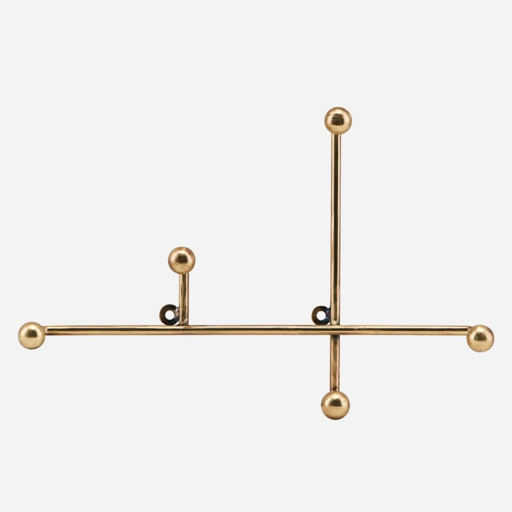 Molecular Brass Coat Rack