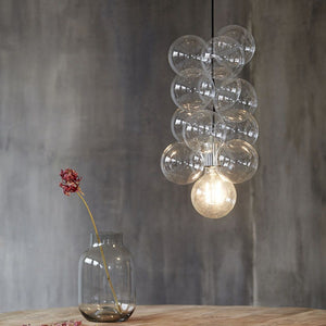 DIY Glass Ball Ceiling Light