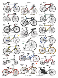 Bicycle Chart Print