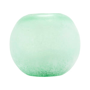 Frosted Green Glass Vase