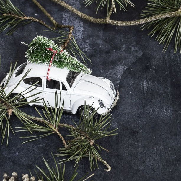 White Car Christmas Decoration