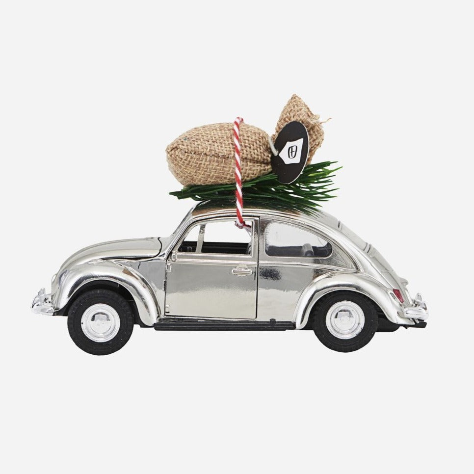 Silver Car Christmas Decoration
