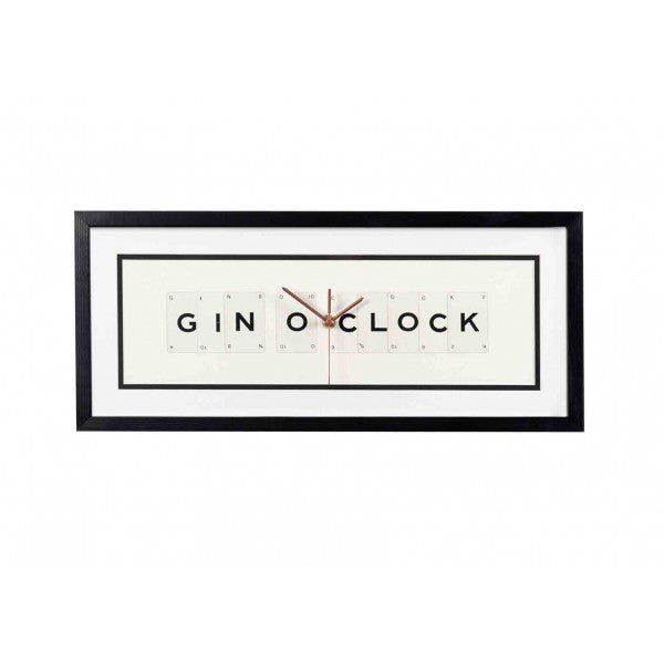 Gin O'Clock Framed Wall Clock