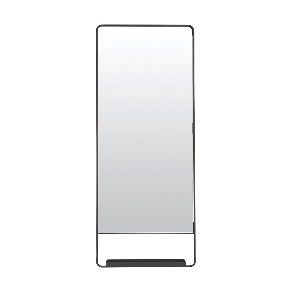 Black Vertical Mirror With Shelf