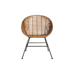 Retro Rattan Lounge Chair