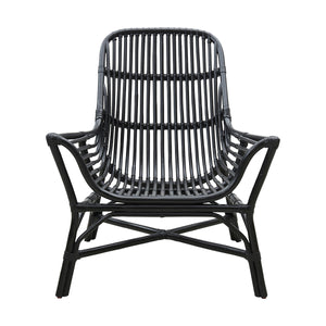 Colony Black Rattan Lounge Chair