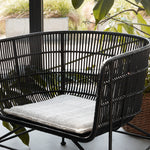 Black Rattan Armchair